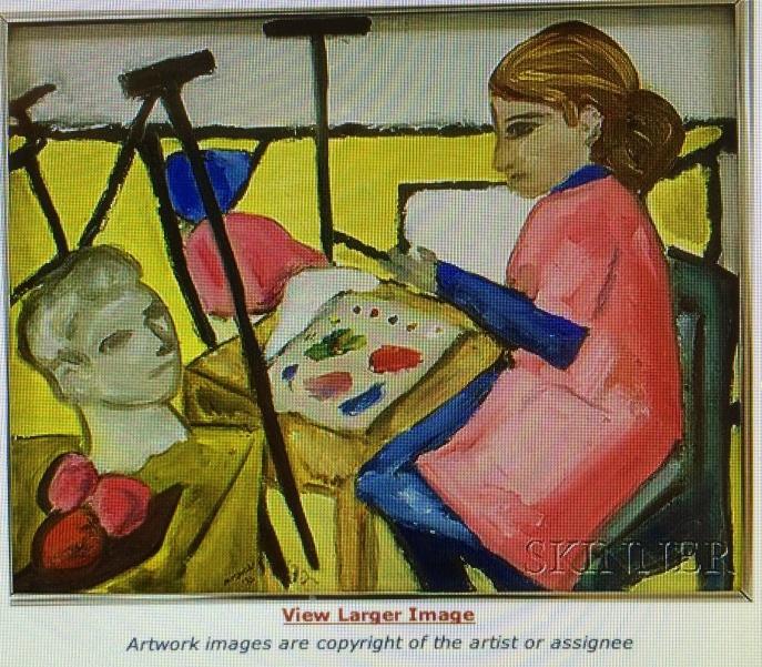 Artist in Her Studio, 1972.