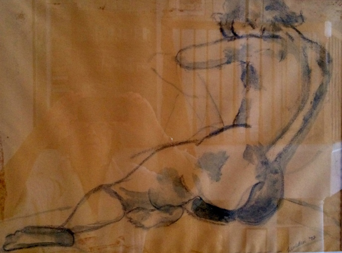 Twenty-minute Charcoal Sketch of Live Model