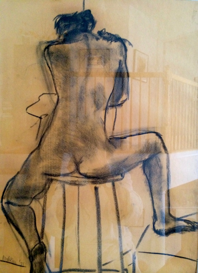 Second Twenty-Minute Charcoal Sketch of Live Model