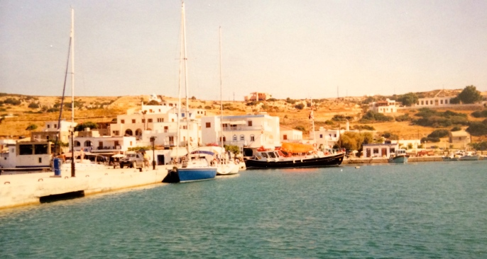 The harbor at Lipsi, August 2002.