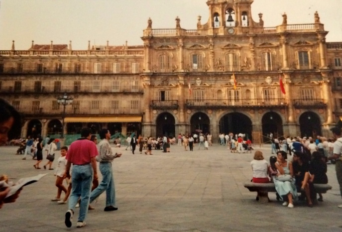 Plaza Major, Salamanca 1990.