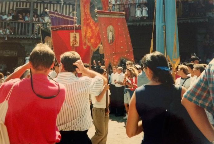 August 15 festival procession at La Alberca.