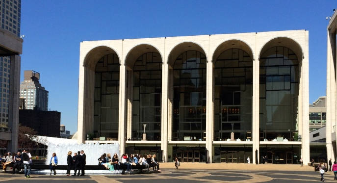 Metropolitan Opera House, at the center of Lincoln Plaza.